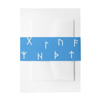 Viking Runes Invitation Belly Band