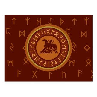 Viking Runes Postcard