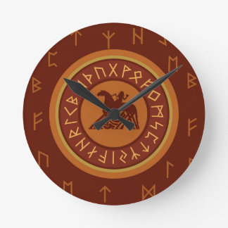 Viking Runes Wall Clocks