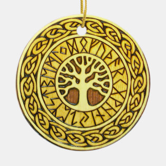 Viking Runes with Tree Ornament