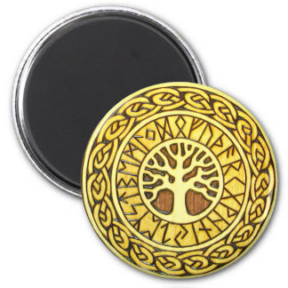 Viking Runes with Tree Refrigerator Magnet