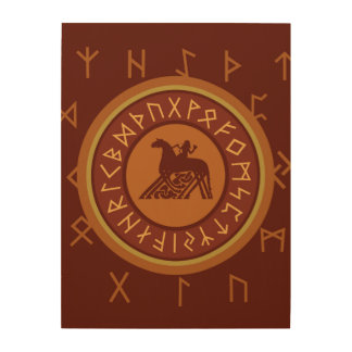 Viking Runes Wood Print