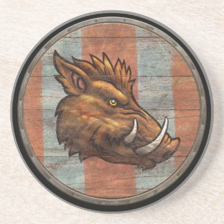 Viking Shield - Boar Coaster