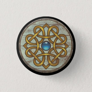 Viking Shield Button - Brooch