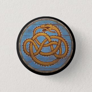 Viking Shield Button - Jörmungandr