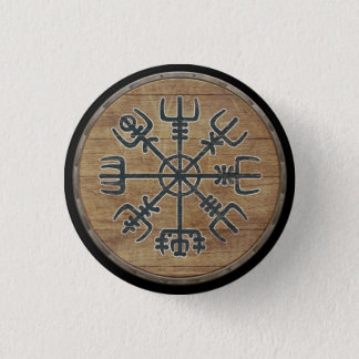 Viking Shield Button - Vegvísir