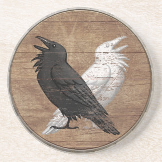 Viking Shield Coaster - Odin's Ravens