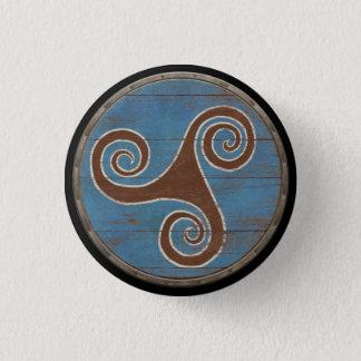 Viking Shield Emblem - Triskele 1 Inch Round Button