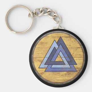 Viking Shield Keychain - Valknut