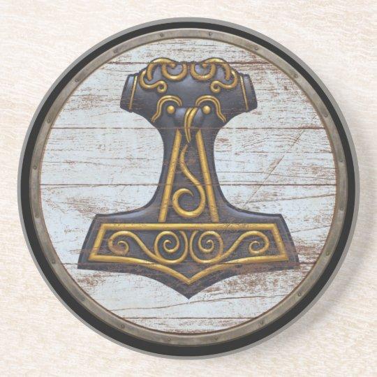 Viking Shield - Mjolnir Coaster
