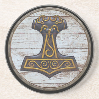 Viking Shield - Mjolnir Drink Coaster