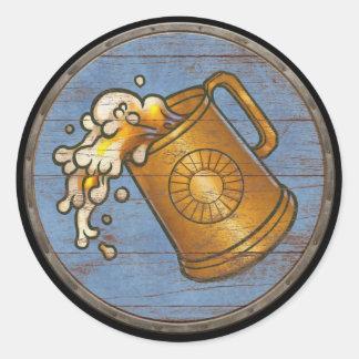 Viking Shield Sticker - Flowing Tankard