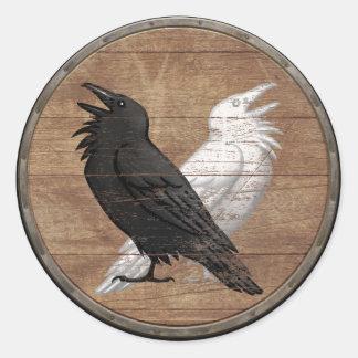 Viking Shield Sticker - Odin's Ravens