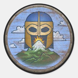 Viking Shield Sticker - Valhalla