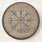 Viking Shield  - Vegvísir Coaster
