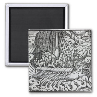 Viking Ship Refrigerator Magnet