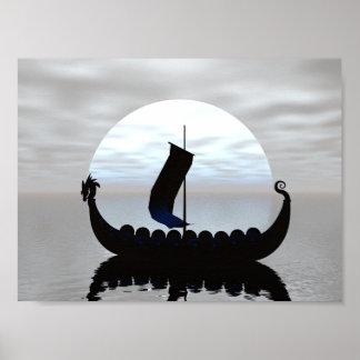 Viking Ship Mini Poster