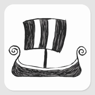 Viking Ship Square Sticker