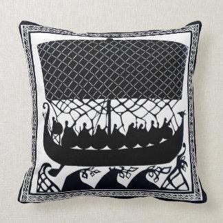 Viking Ship to Paradise Throw Pillow