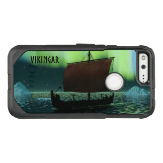 Viking Ship Under Northern Lights OtterBox Commuter Google Pixel Case