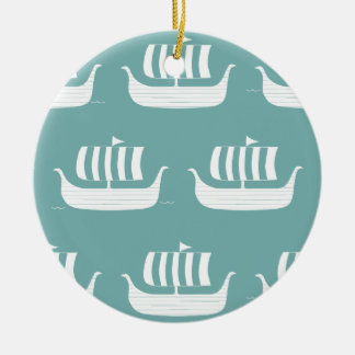 Viking ships custom ornament