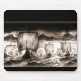 VIKING SHIPS MOUSE PAD