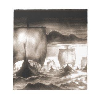 VIKING SHIPS NOTEPAD