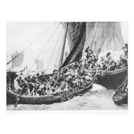Viking Ships Postcard