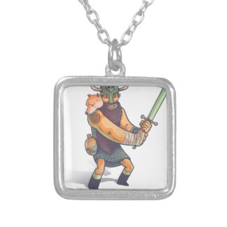 Viking Silver Plated Necklace