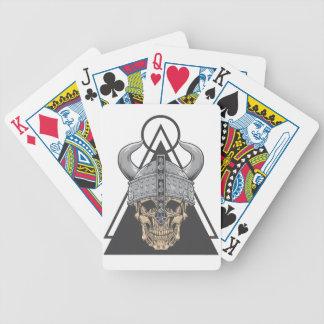 Viking Skull Bicycle Playing Cards