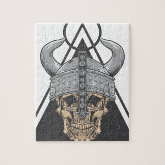 Viking Skull Jigsaw Puzzle
