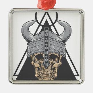 Viking Skull Metal Ornament
