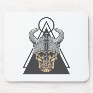 Viking Skull Mouse Pad