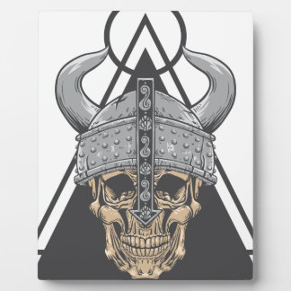Viking Skull Plaque