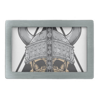 Viking Skull Rectangular Belt Buckle