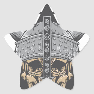 Viking Skull Star Sticker