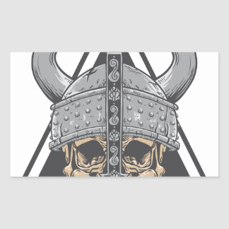 Viking Skull Sticker