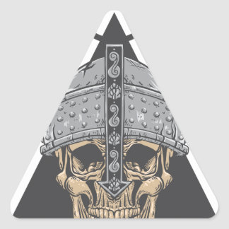 Viking Skull Triangle Sticker