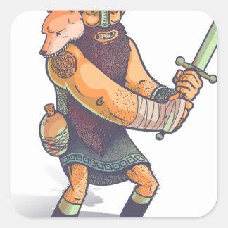 Viking Square Sticker