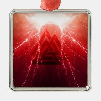 Viking Storm Metal Ornament