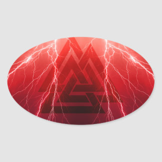 Viking Storm Oval Sticker