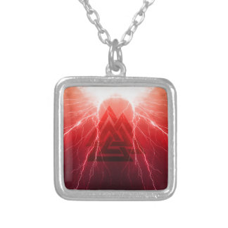 Viking Storm Silver Plated Necklace