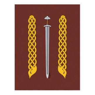 Viking Sword and Plaitwork Postcard