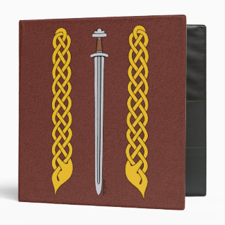 Viking Sword and Plaitwork Vinyl Binder