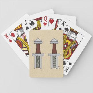 Viking Sword Pattern Welding Playing Cards
