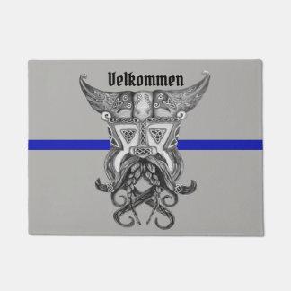 Viking Thin Blue Line Doormat