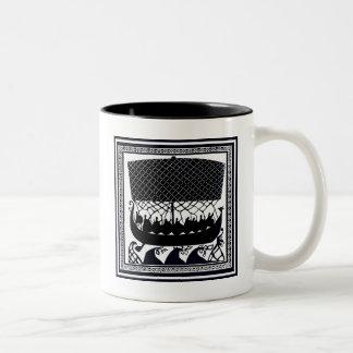 Viking Trip to Paradise Two-Tone Coffee Mug