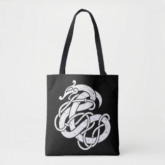 Viking Urnes Style Snake Tote Bag