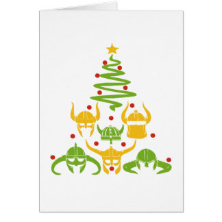Viking Valhalla Christmas Tree Card