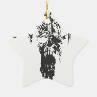 Viking Valhalla - Design 3 Ceramic Star Ornament